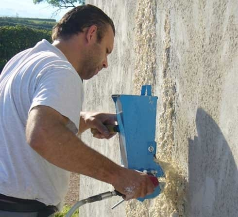 an ecological solution for mortars spraying