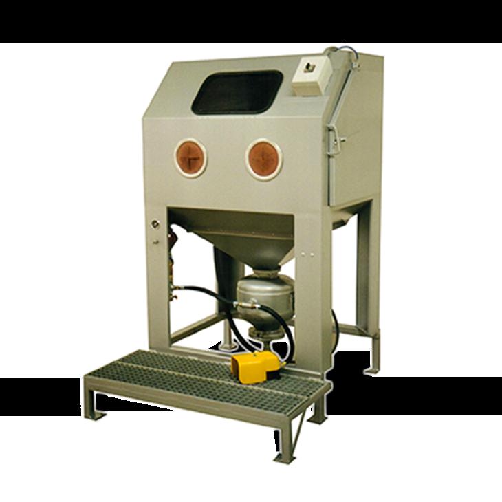 cabine de sablage à manche S110, manuelle à pression d