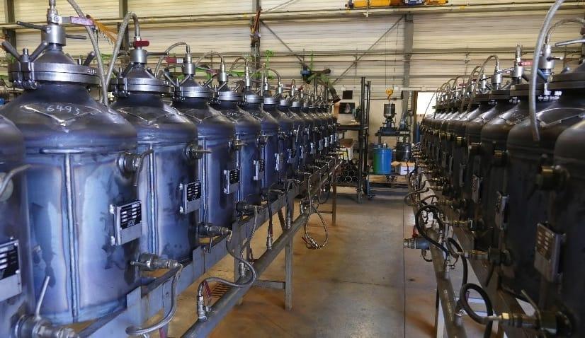usine de fabrication ACF France matériel de sablage