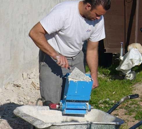 hemp-based mortars spraying CHANVRIT