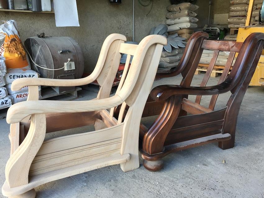 décapage meuble en bois avec la Colbri d'ACF France