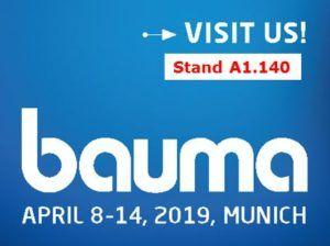 ACF est au salon BAUMA du 8 au 14 avril 2019