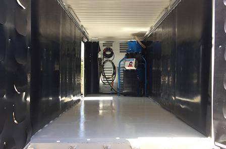 sandblasting container