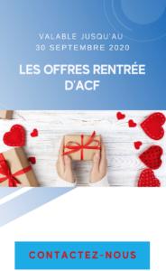 OFFRE RENTRÉE ACF FRANCE